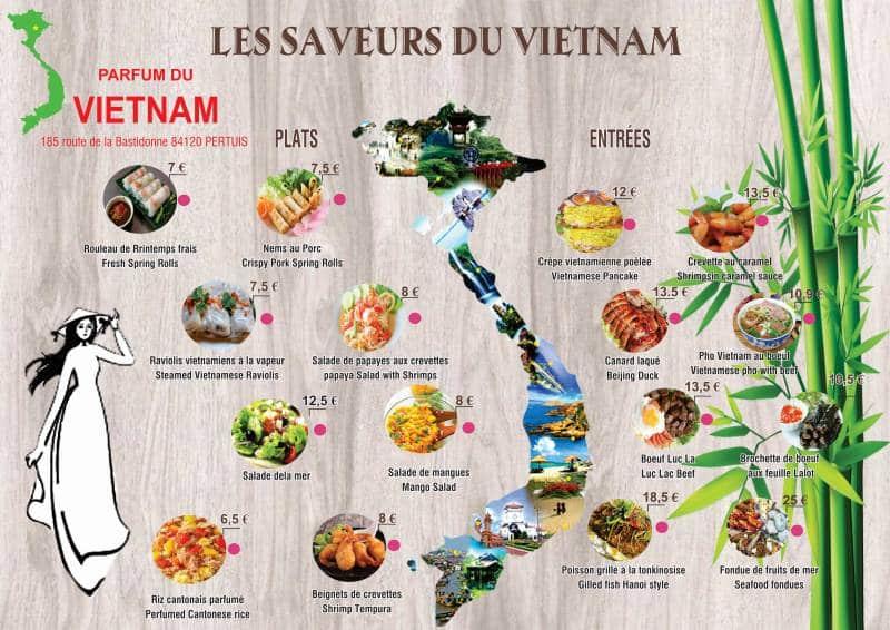 Carte Parfum du Vietnam à Pertuis