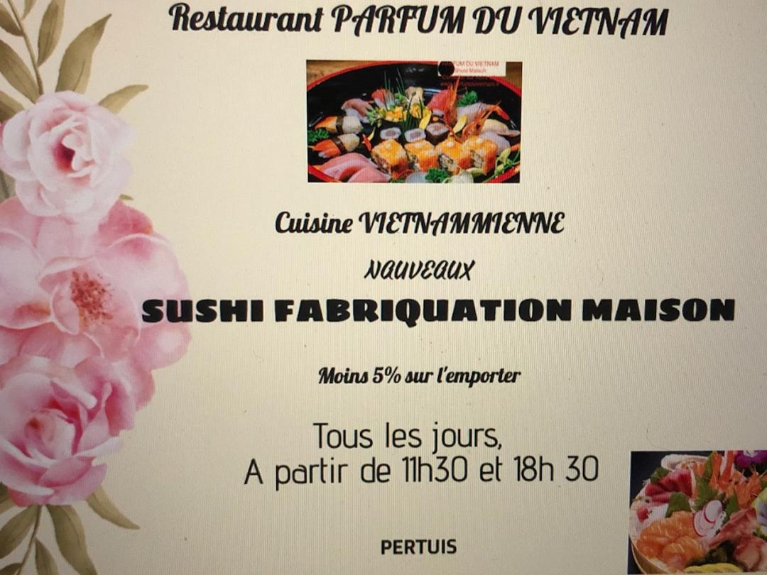 Sushi Parfum du Vietnam Pertuis